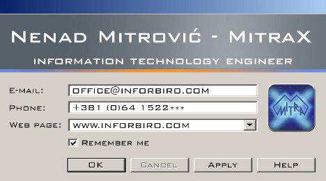 Geeky business card MitraX